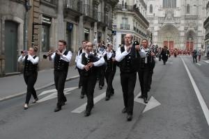 Les bagads de Nantes et Orvault à l'oeuvre....