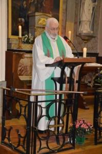 le Père Frank, notre aumônier. (Photo A. Gaigeard)